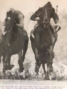 Majestic Prince on the right with Bill Hartack in the irons and Arts and Letters with Braulio Baeza up. Majestic Prince would prevail,Preakness 1969