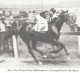 Man O'War winner 1920 Preakness S.