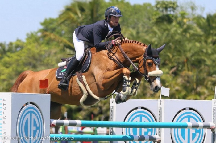 Darragh Kenny and Babalou 41 competing at the Winter Equestrian Festival