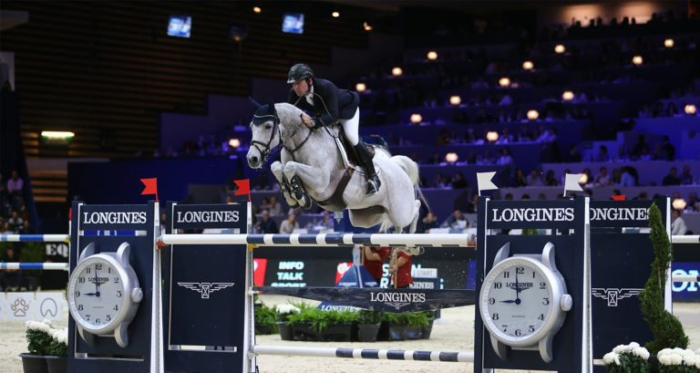 Mark McAuley and Miebello on their way to victory in the Lyon Grand Prix