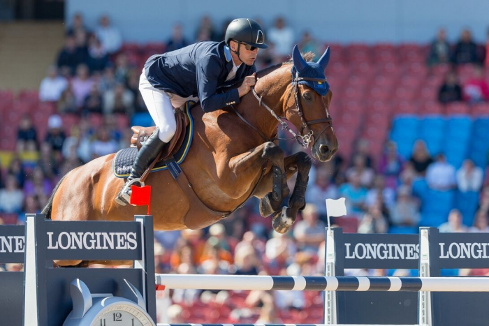 Photo: Claes Jakobsson Sweden's Fredricson wins thrilling Jumping opener