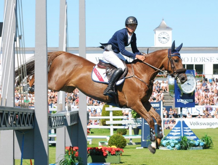 Bertram Allen and Christy Jnr winners of the Falsterbo Derby