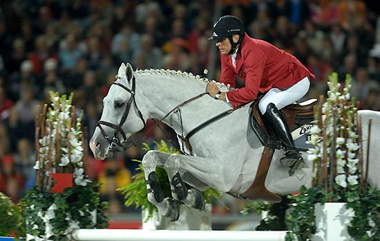 Dirk Demersman (BEL), riding Clinton 53, World Equestrian Games, Aachen, August 2006