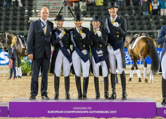 Photo: Claes Jakobsson Dressage team gold for germany once again