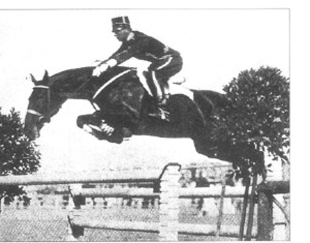 Kornett 5th place in the 1932 individual jumping final