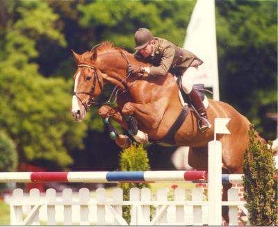 Capt. John Ledingham (IRE) riding Millstreet Ruby to victory in the 1997 Monterrey Derby in Mexico