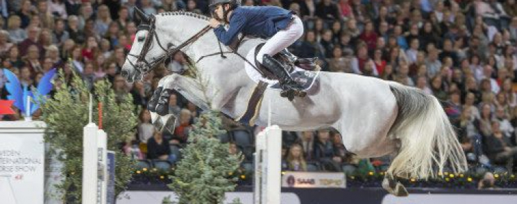 Bertram Allen with Gin Chin van het Lindenhof, winners of the Sweden Grand Prix presented by H&M at Stockholm in Sweden (Photo: Roland Thunholm)