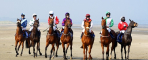 Horses Fly Across Beach Sand in Ireland's Laytown Races