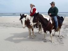Horseback riding on MD Beach