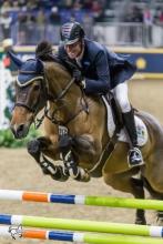Ian Millar of Perth, ON, riding Dixson