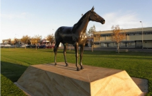 Statue of Makybe Diva at Port Lincoln