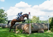 Arctic Soul and Gemma Tattersall competiting at Burghley 2017