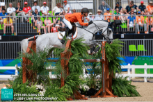 Tim Lips and Bayro competing at Rio 2016 Olympic Games