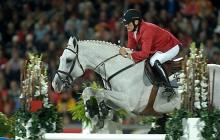 Dirk Demersman (BEL), riding Clinton 53, World Equestrian Games, Aachen, August 2006